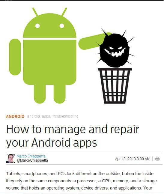 how to manage and repair your android apps